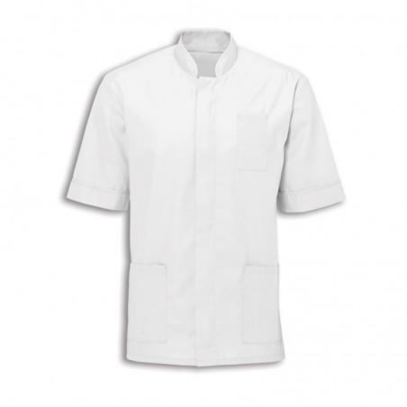 Men's Mandarin Collar Tunic (White with White Trim) - NM7