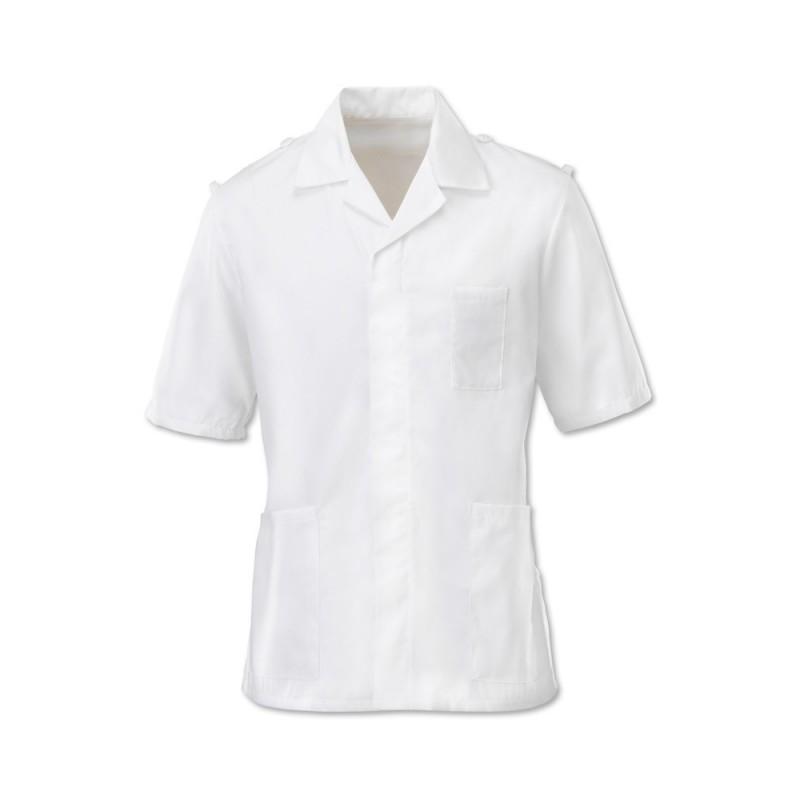Men's Epaulette Tunic (White) - H572