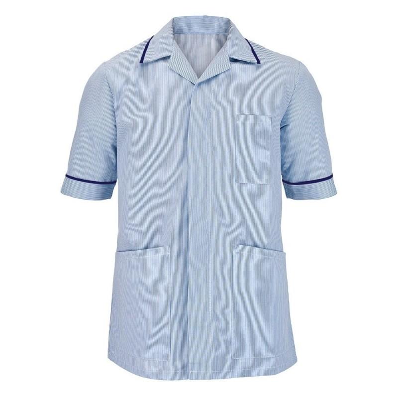 Men's Stripe Tunic (Blue with Navy Trim) - NM173