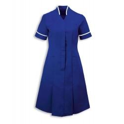 Mandarin Collar Dress (Royal Box With White Trim) - NF51