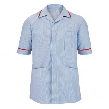 Men's Stripe Tunic (Blue with Red Trim) - NM173