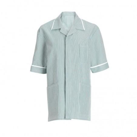 Men's Stripe Tunic (Aqua with White Trim) - NM173
