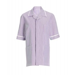 Men's Stripe Tunic (Lilac with White Trim) - NM173