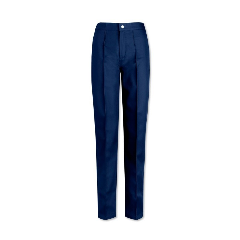Women's Flat Front Trousers (Navy) W40