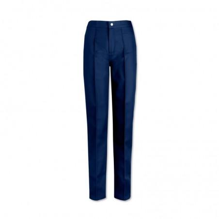 Women's Flat Front Trousers (Navy) W40