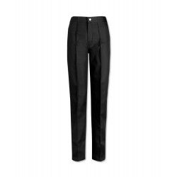 Women's Flat Front Trousers (Black) W40