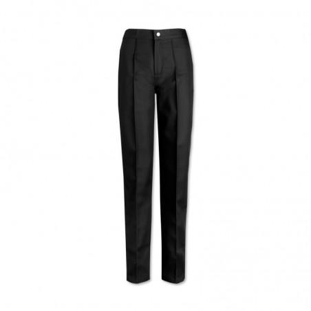 Women's Flat Front Trousers (Black) W40