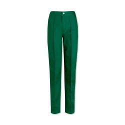 Women's Flat Front Trousers (Bottle Green) W40