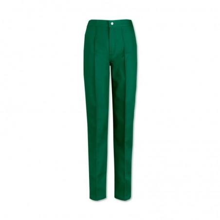 Women's Flat Front Trousers (Bottle Green) W40