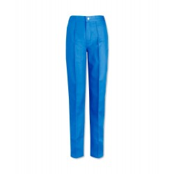 Women's Flat Front Trousers (Hospital Blue) W40