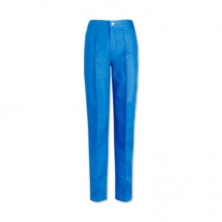 Women's Flat Front Trousers (Hospital Blue) W40