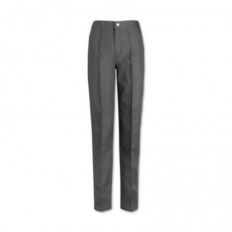 Women's Flat Front Trousers (Grey) W40