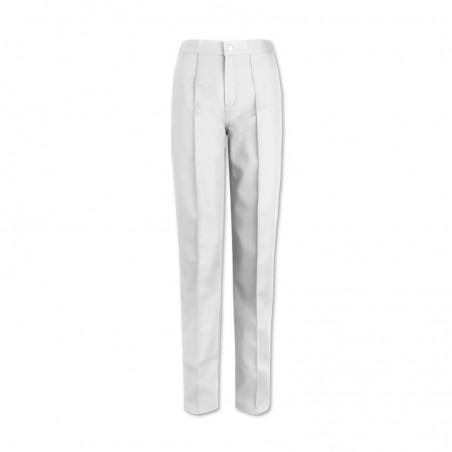 Women's Flat Front Trousers (White) W40