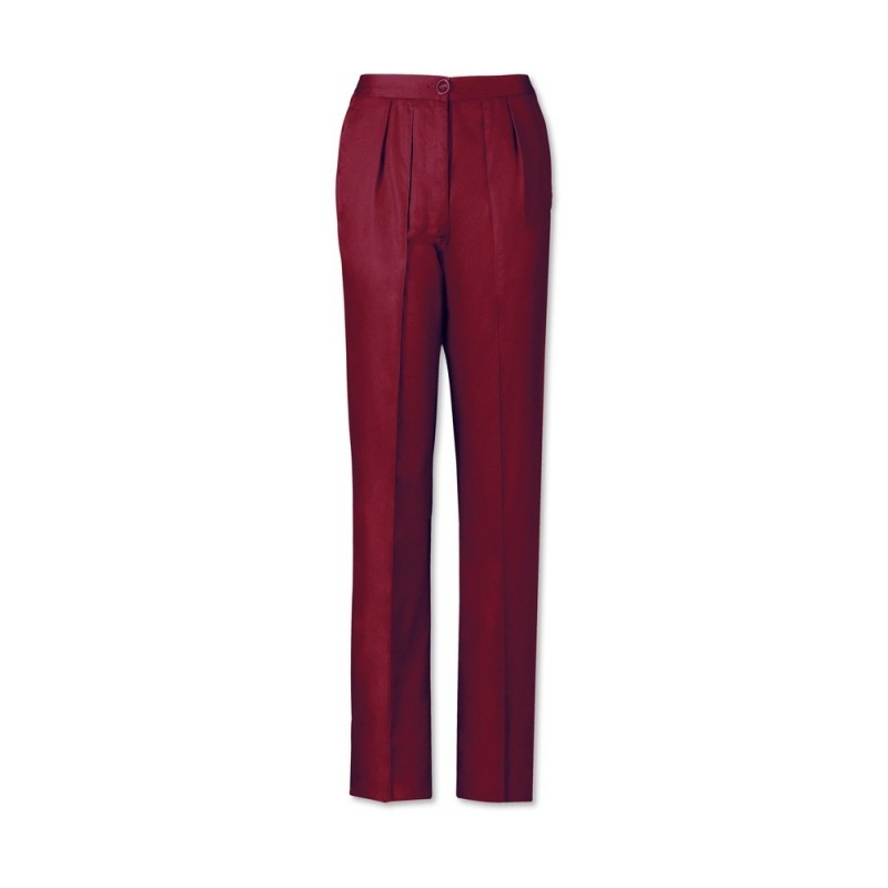 Women's Twin Pleat Trousers (Maroon) LT200