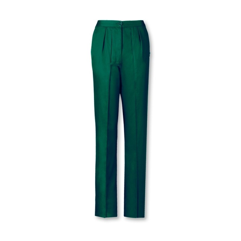 Women's Twin Pleat Trousers (Bottle Green) LT200