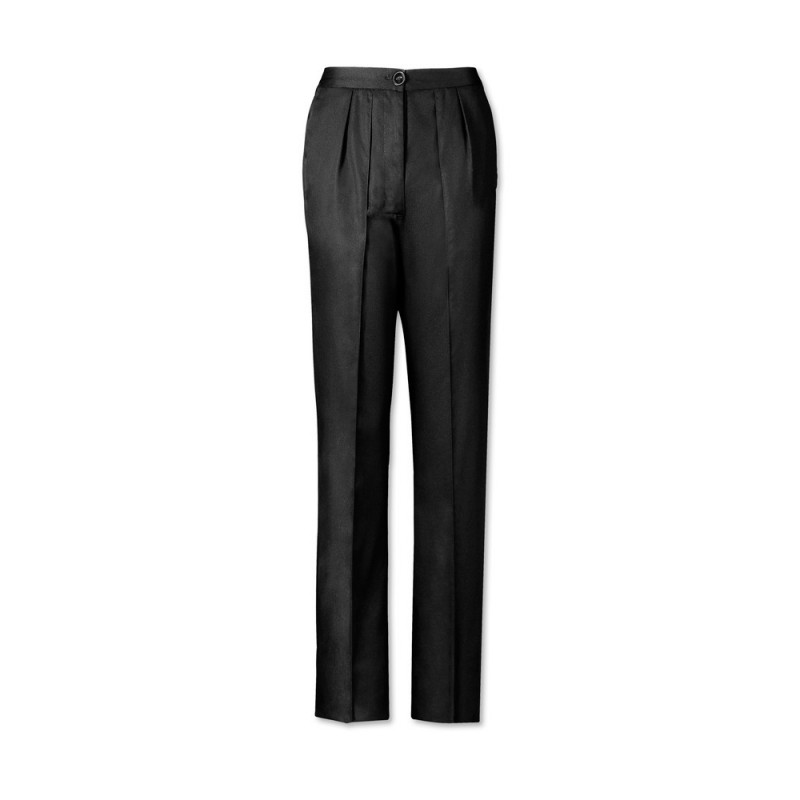 Women's Twin Pleat Trousers (Black) LT200