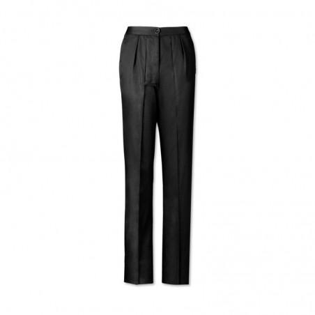 Women's Twin Pleat Trousers (Black) LT200