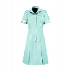 Soft Brushed Dress (Aqua With White Trim) - D308