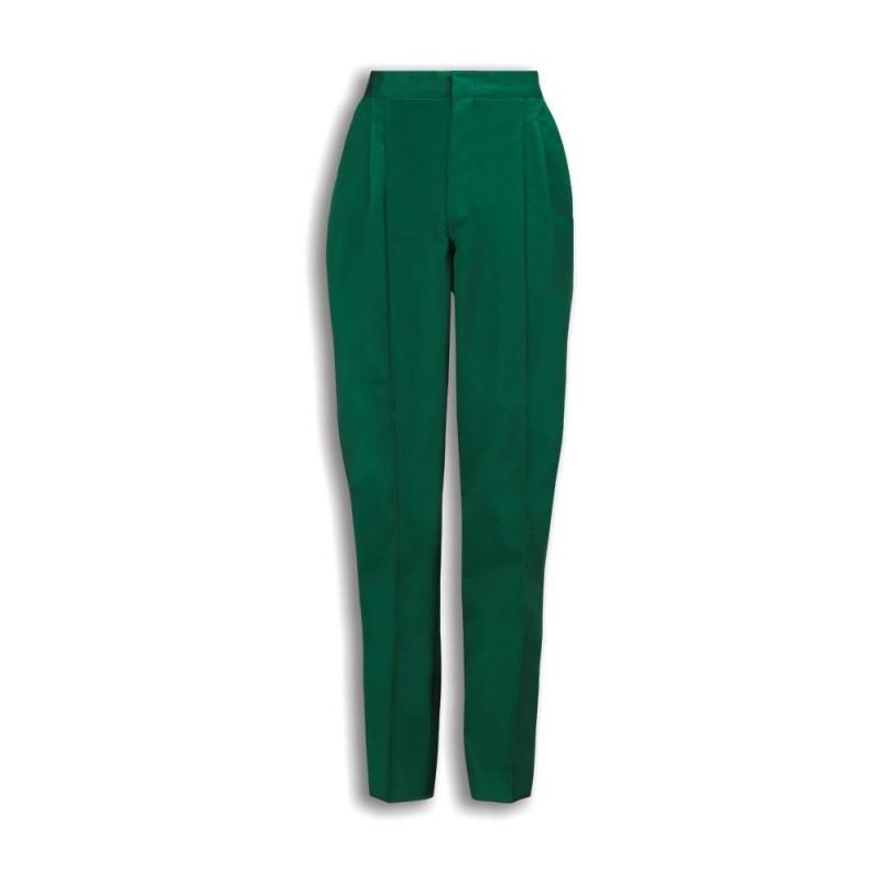 Essential Women's Pleat Front Trousers (Bottle Green) NF640