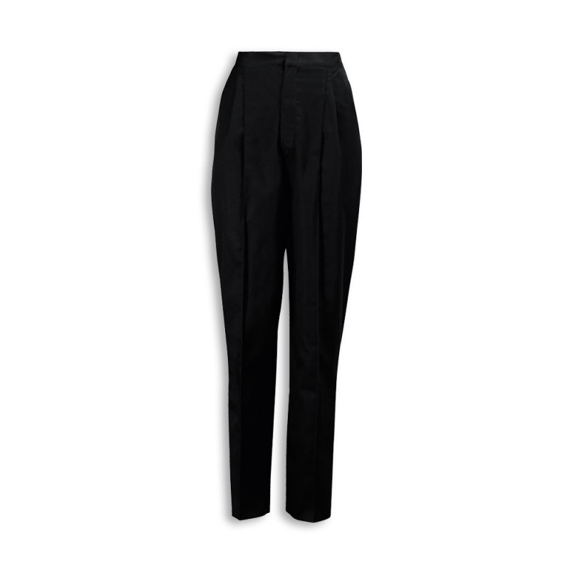 Essential Women's Pleat Front Trousers (Black) NF640