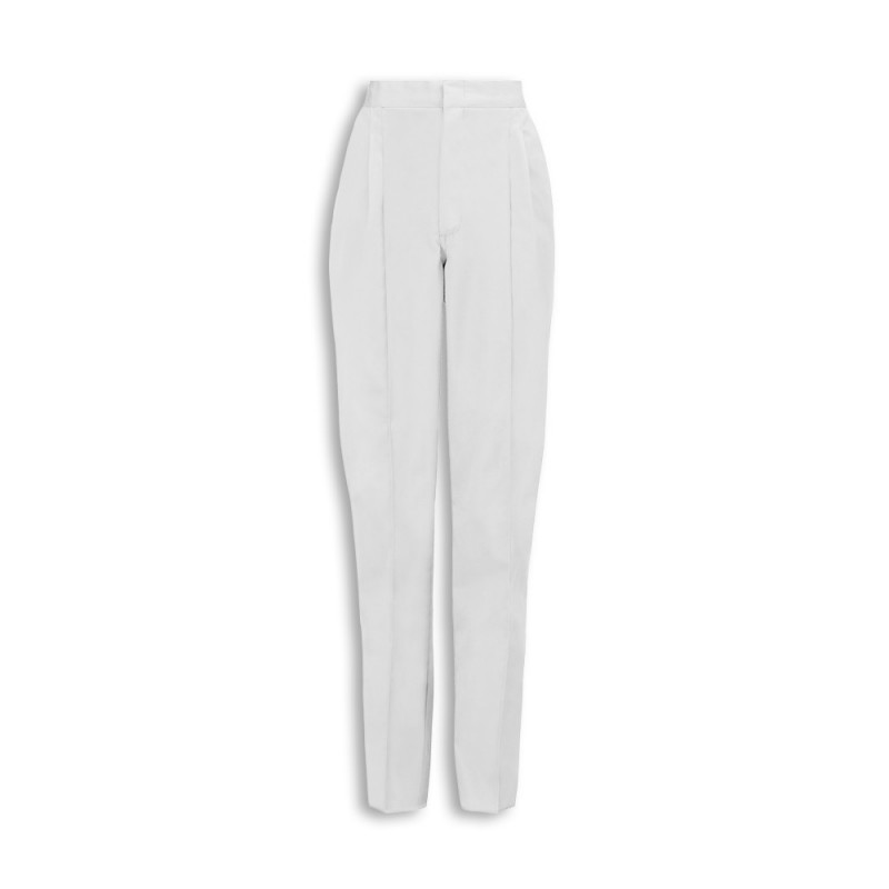 Essential Women's Pleat Front Trousers (White) NF640
