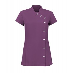 Women's Asymmetrical Button Tunic (Amethyst) - NF990