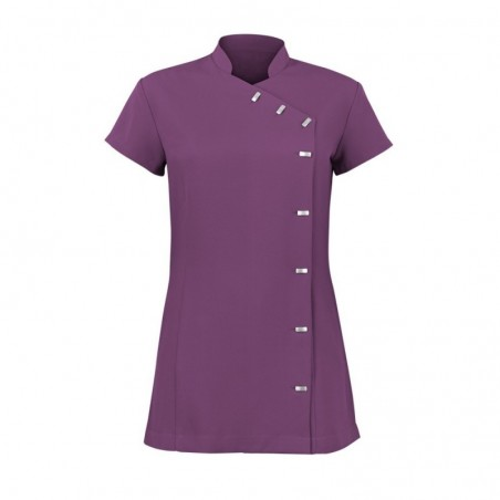 Women's Asymmetrical Button Tunic (Amethyst) - NF990