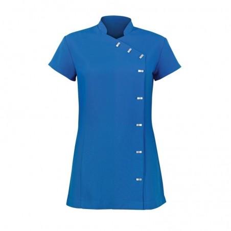 Women's Asymmetrical Button Tunic (Cobalt) - NF990