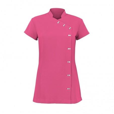 Women's Asymmetrical Button Tunic (Hot Pink) - NF990