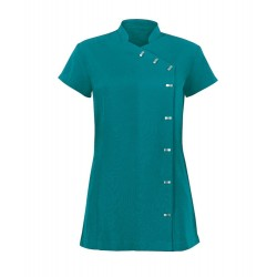 Women's Asymmetrical Button Tunic (Lagoon) - NF990