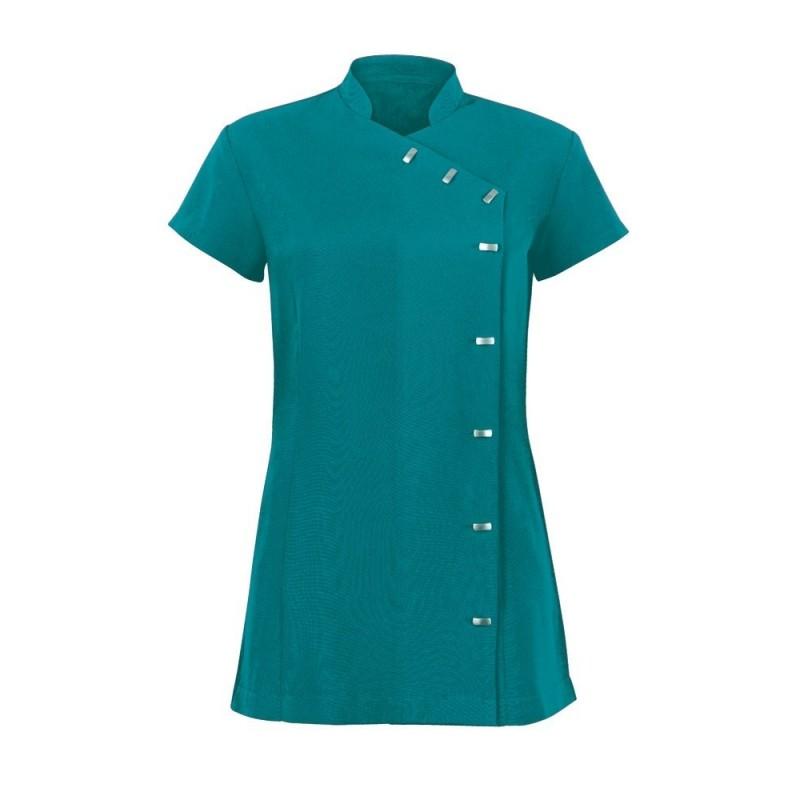 Women's Asymmetrical Button Tunic (Lagoon) - NF990