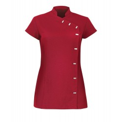 Women's Asymmetrical Button Tunic (Red) - NF990
