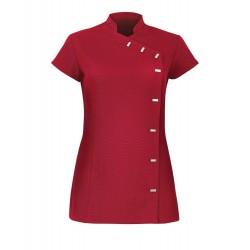 Women's Asymmetrical Button Tunic (Red) - NF990