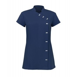 Women's Asymmetrical Button Tunic (Navy) - NF990