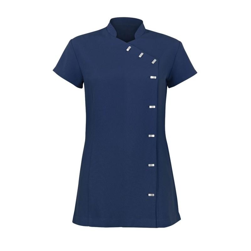Women's Asymmetrical Button Tunic (Navy) - NF990