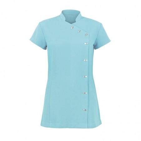 Women's Asymmetrical Button Tunic (Teal) - NF990