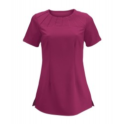 Women's Satin Trim Tunic (Raspberry) - NF32
