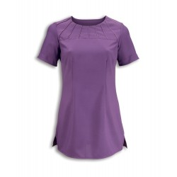 Women's Satin Trim Tunic (Amethyst) - NF32