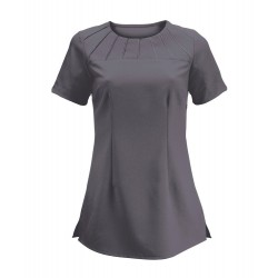 Women's Satin Trim Tunic (Charcoal) - NF32