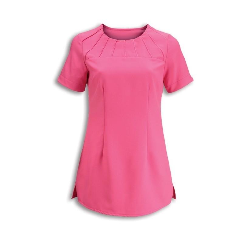 Women's Satin Trim Tunic (Hot Pink) - NF32