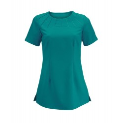 Women's Satin Trim Tunic (Lagoon) - NF32