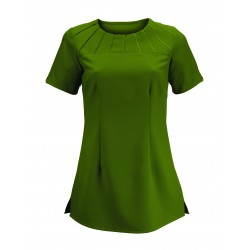 Women's Satin Trim Tunic (Olive) - NF32
