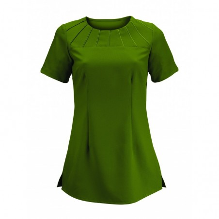 Women's Satin Trim Tunic (Olive) - NF32