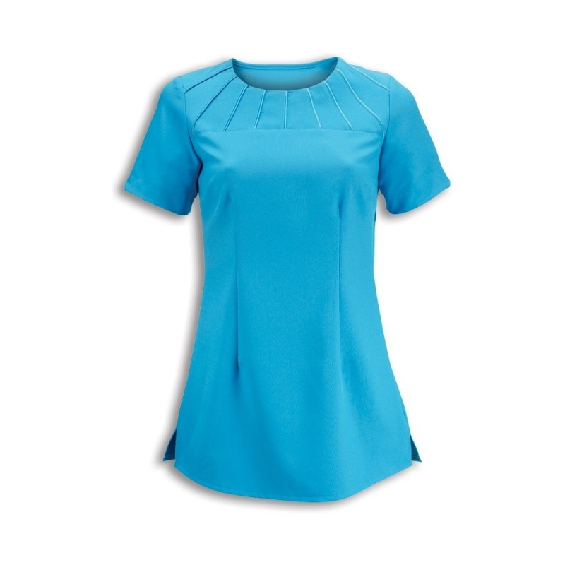 Women's Satin Trim Tunic (Peacock) - NF32