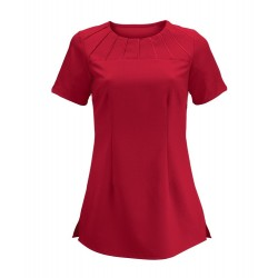 Women's Satin Trim Tunic (Red) - NF32