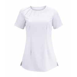 Women's Satin Trim Tunic (White) - NF32