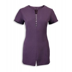 Women's Notch Neck Beauty Tunic (Amethyst) - NF58