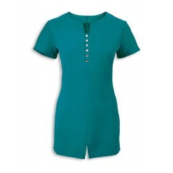 Women's Notch Neck Beauty Tunic (Lagoon) - NF58