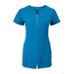 Women's Notch Neck Beauty Tunic (Peacock) - NF58
