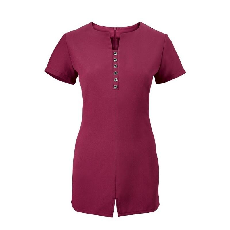 Women's Notch Neck Beauty Tunic (Raspberry) - NF58